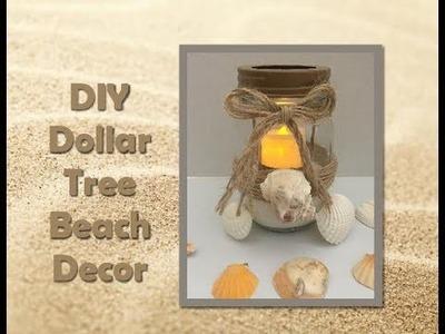 DIY Dollar Tree Mason Jar Beach Decor