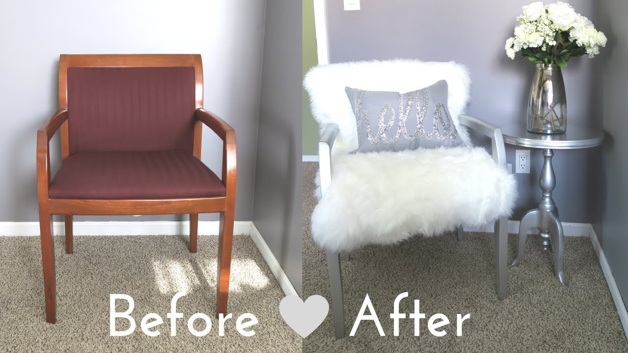 DIY Faux Fur Chair a Bud for Under $50 My Crafts