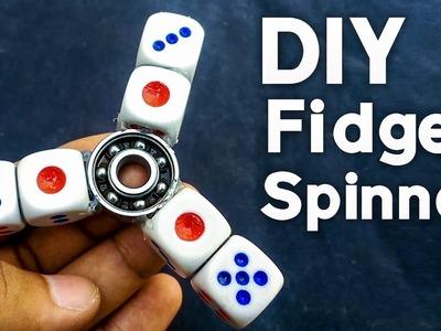 DIY Fidget Spinner How To Make Fidget Spinner with Dice