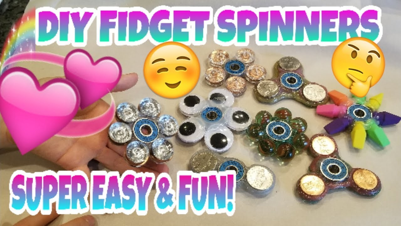 DIY FIDGET SPINNERS~5 OF THE COOLEST LOOKING HOMEMADE FIDGET SPINNERS THAT ARE SUPER EASY TO MAKE~