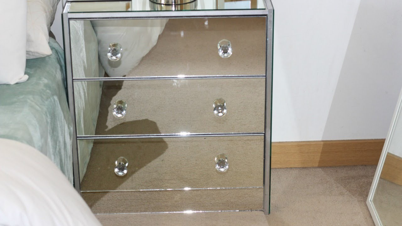 Diy ikea mirrored nightstand ikea hacks lindailyblog my for Build your own nightstand