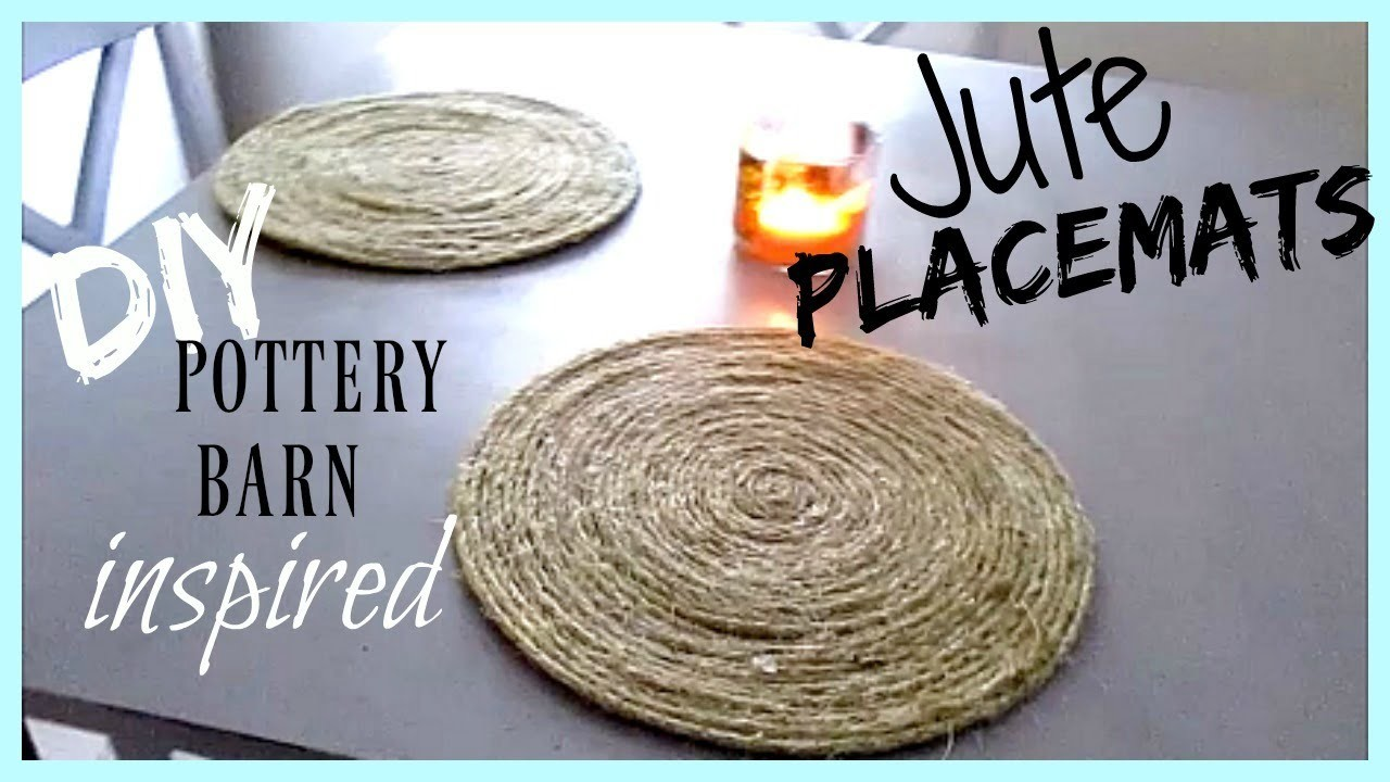 DIY Jute Placemats, Home Decor