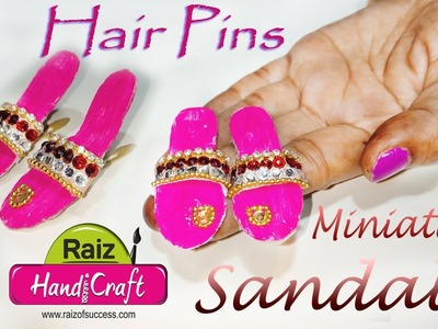 Diy miniature flip flop sandals hair pins |Easy step By Step | miniature art | art With Creation|#70