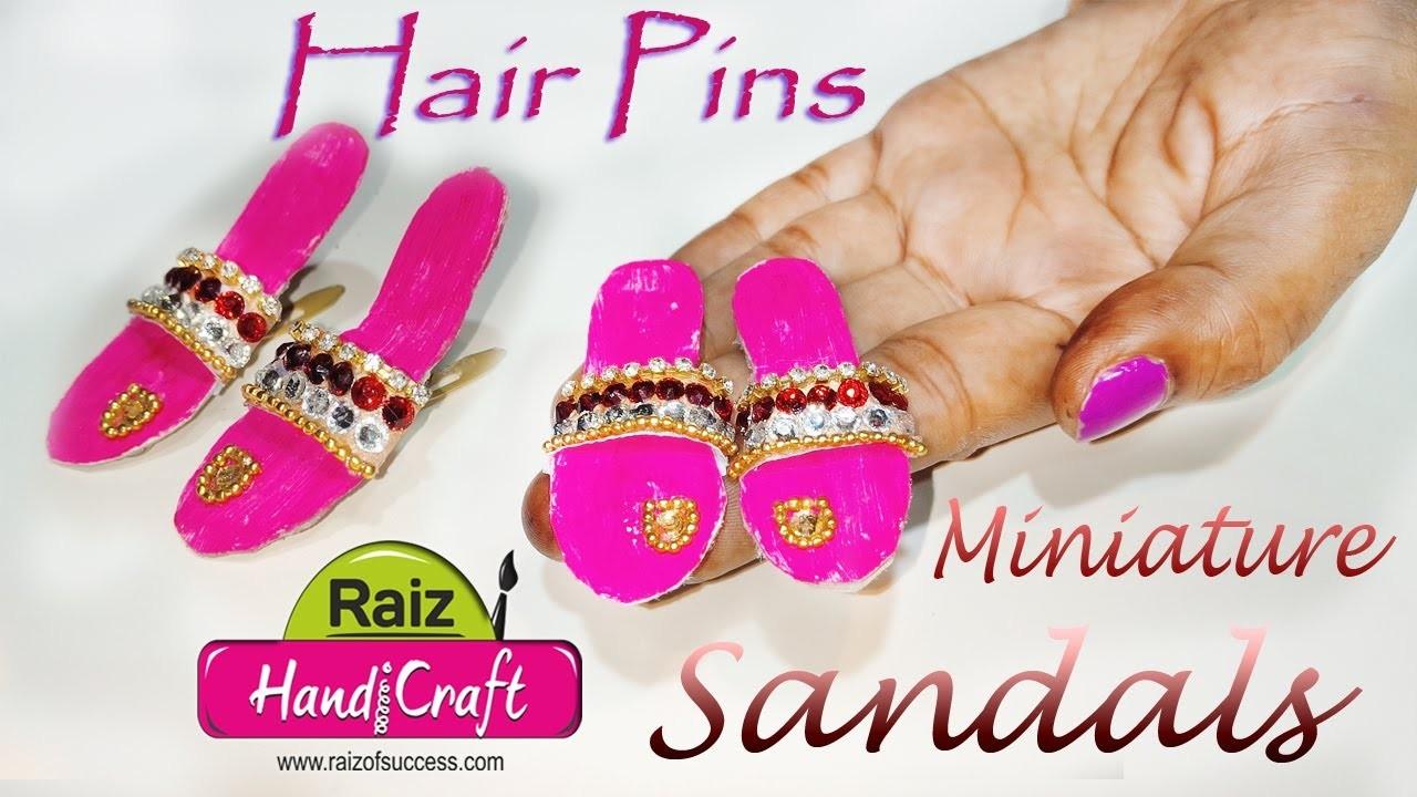 c3cf1232df44d Diy miniature flip flop sandals hair pins