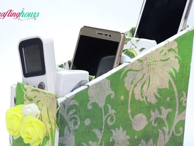 DIY Mobile Box, Stand: Easy to Make Cardboard Desk Organizer   By CrafingHours