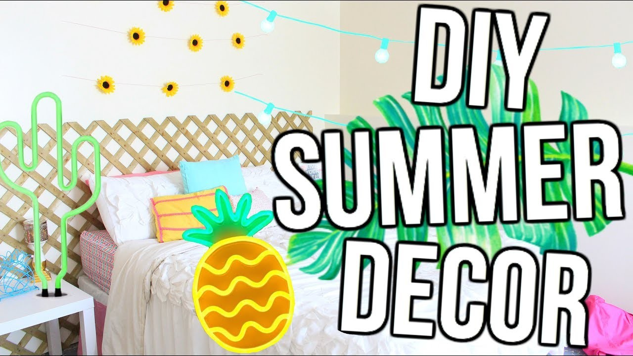 diy pinterest summer room decor. Black Bedroom Furniture Sets. Home Design Ideas