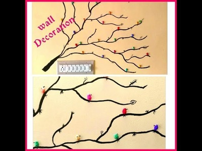 DIY Room decoration | Wall painting | Tree wall painting