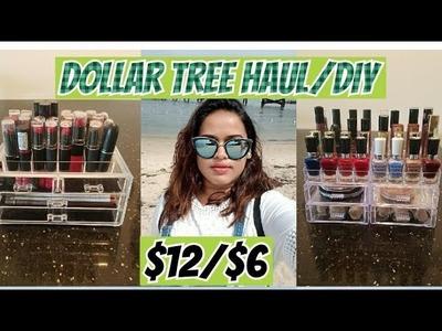 Dollar Tree  Haul ||  Dollar Tree DIY Acrylic Makeup Organiser ||