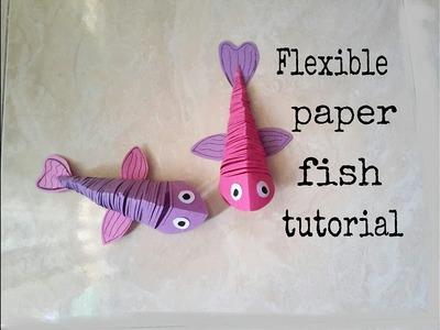 Flexible paper fish tutorial