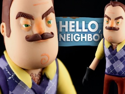 "HELLO NEIGHBOR ""TUTORIAL"" ✔POLYMER CLAY ✔COLD PORCELAIN"