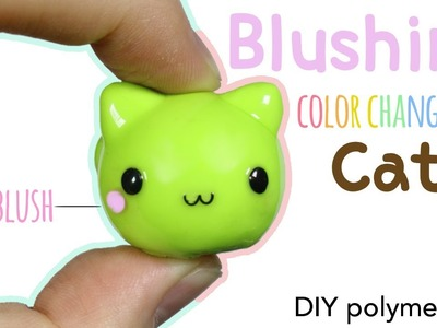 How to DIY Kawaii Blushing Cat Polymer Clay.Uv Pigment Tutorial (ft. Elves Box)