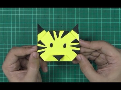 How to make an origami paper tiger | Origami. Paper Folding Craft, Videos & Tutorials.