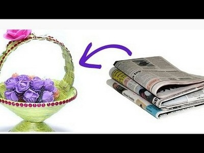 """""""How to Make DIY Newspaper Basket 