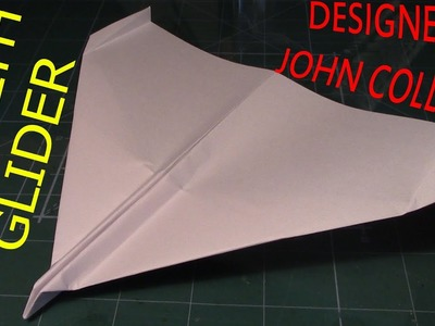 How to Make Paper Airplane: Stealth Glider (John Collins)