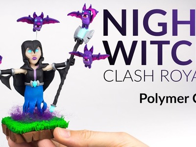 Night Witch (Clash Royale) – Polymer Clay Tutorial