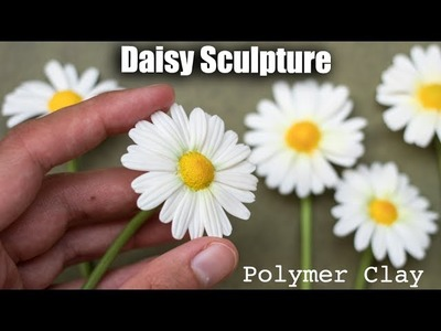 Polymer Clay Daisy Flower Tutorial. How to Sculpt with Clay