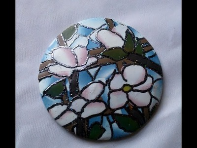 Polymer clay tutorial - faux stained glass + faux Tiffany effect