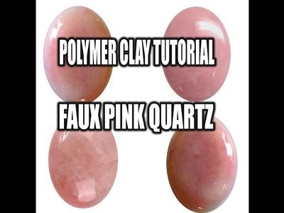 Polymer clay tutorial - faux pink quartz