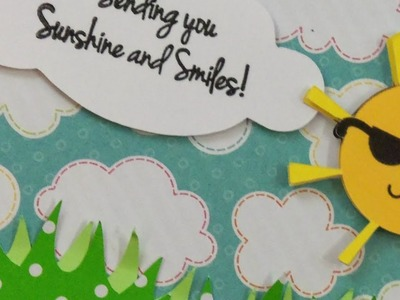 """"""". SUNSHINE AND SMILES!"""" CARD ~ PAPER PLAY SKETCHES #43"""