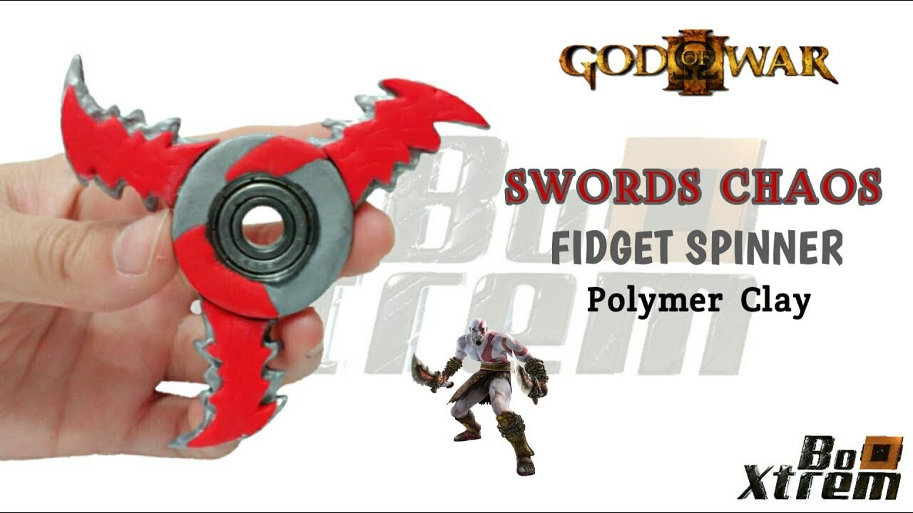 SWORDS CHAOS FIDGET SPINNER | God Of War | Polymer Clay Tutorial