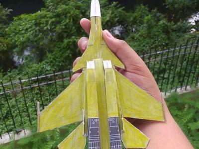 Yellow 13 su-37 paper model