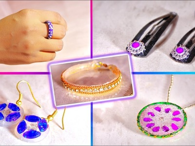 5 diy jewelry (hot glue) | jewelry tutorial | very easy & simple | Artkala 208