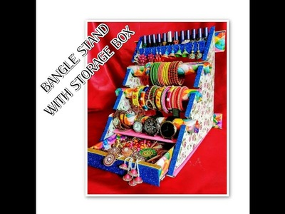 Bangle Stand  Bangle Box   bangle stand with storage box   DIY   Nail pant Stand  