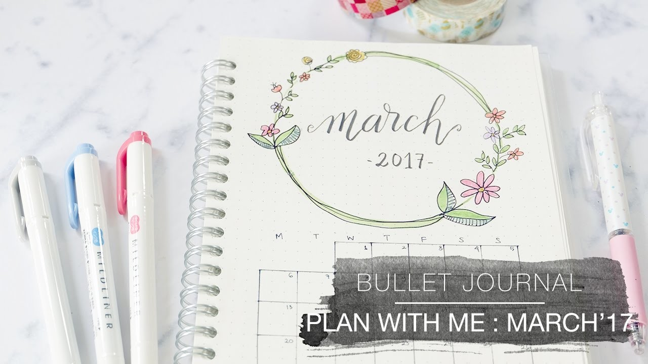 Bullet journal plan with me march 2017 for Plan me