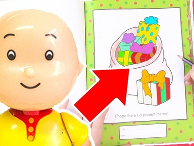 Caillou Toys for Kids - Colouring Fun With Caillou | CAILLOU CRAFT | Toys for kids