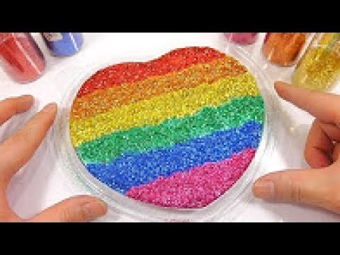 Combine Glitter Slime Water Clay Heart DIY Learn Colors ... Jacklyne Slime