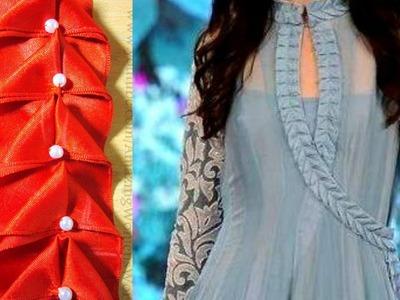 Designer Anarkali suit Embellished Lace  Creative Lace  Making (DIY)