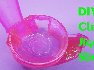 DIY Clear Jiggly Slime! How to Make Clear Jiggly Slime No Borax!