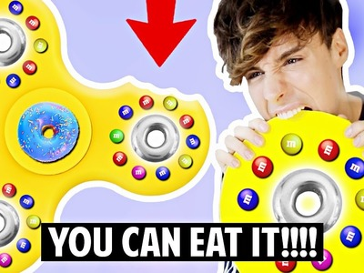 DIY GIANT FIDGET SPINNER!!! EDIBLE! MADE OF CANDY!