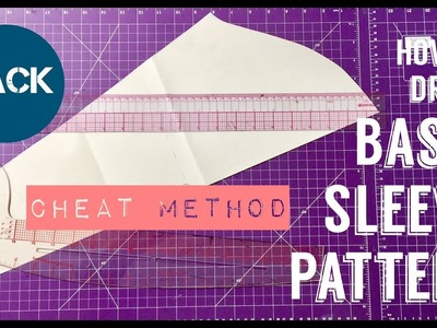 DIY HOW TO DRAFT SLEEVE PATTERN I Cheat Method I HACK - PrettyTallLifeTV