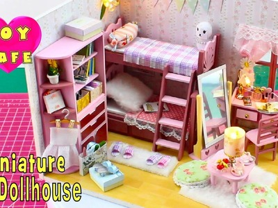 """DIY Miniature Dollhouse Kit With Working Lights """"Best Friends"""""""