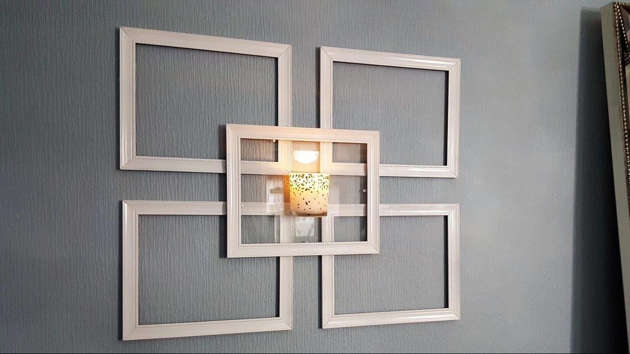 Dollar Tree Picture Frame Wall Sconce - Use What You Have Decorating #5, My Crafts and DIY Projects
