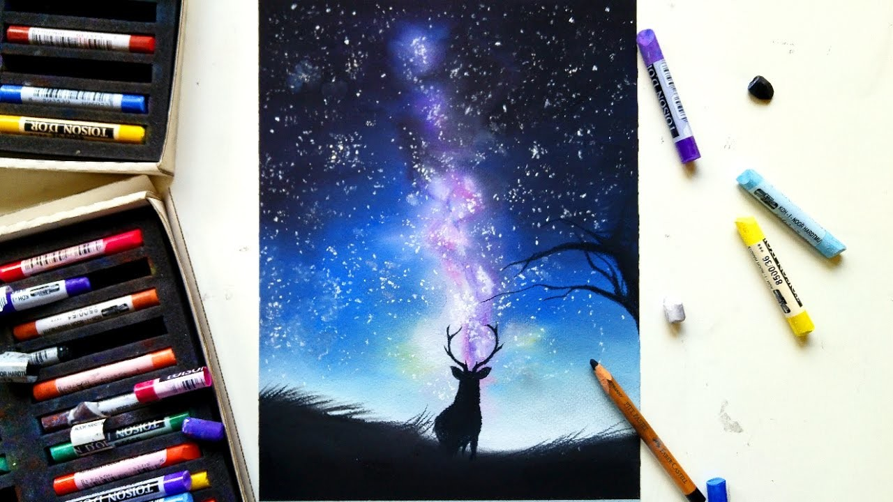 how to make a galaxy with soft pastels