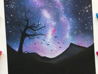 Drawing a starry night with soft pastels | Leontine van vliet