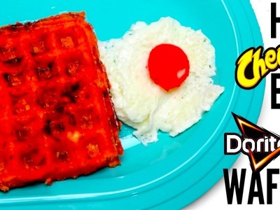 FLAMIN' HOT BREAKFAST - DIY Cheetos Egg & Doritos Waffle | How To