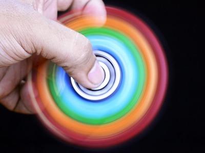 Homemade 1000 MPH RAINBOW FIDGET SPINNER | DIY Easy 99999+ RPM EDC Hand Spinner