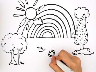 How To Draw A Rainbow For Kids - Coloring Pages For Kids