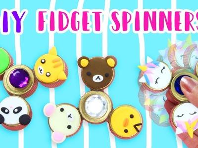 How to Make DIY Fidget Spinners (NO BEARINGS)!