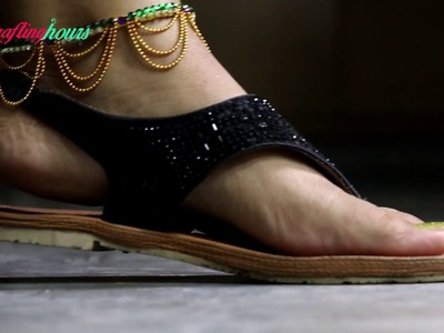 How to Make Silk Thread Anklets (Payal) at Home. DIY Silk Thread Jewellery | By CraftingHours