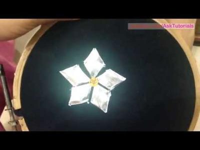 Making Gotta patti flower from Gotta Lace | In Hindi | Handwork