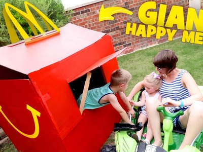 McDonald's Happy Meal PlayHouse! DIY Drive Thru Prank & Backyard Family Fun!