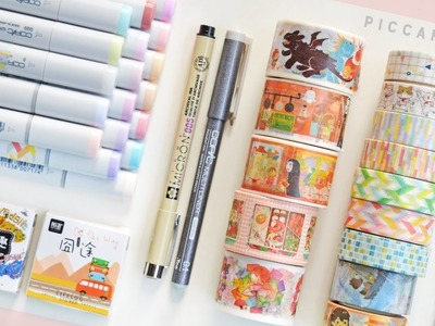 New Copic Markers, Washi Tapes and more [Art & Planner Supplies Haul]
