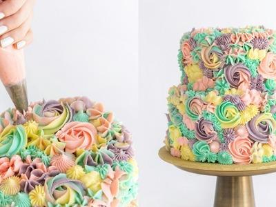 Pastel Rainbow Swirl Cake - CAKE STYLE