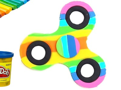PLAY DOH rainbow fidget spinner