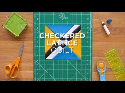 Quilt Snips Mini Tutorial - Checkered Lattice