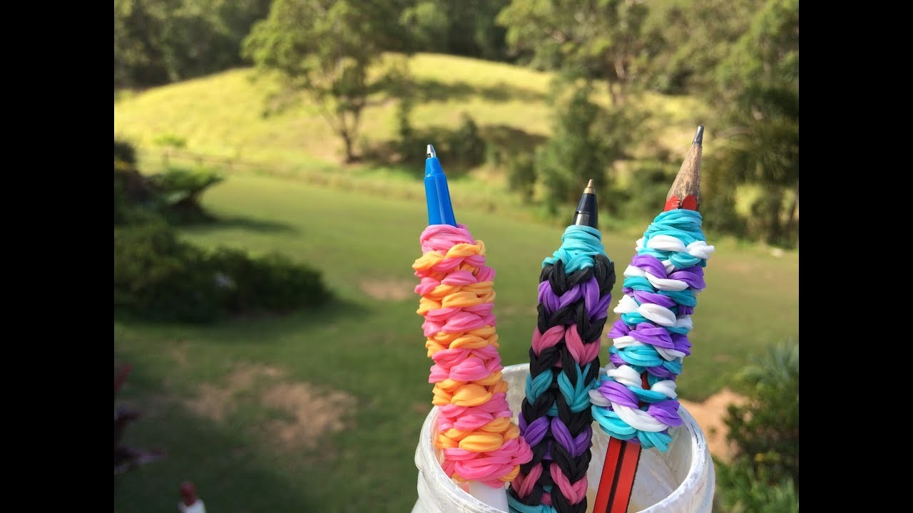 Rainbow Loom Pencil Grip Tutorial! Super Easy design!